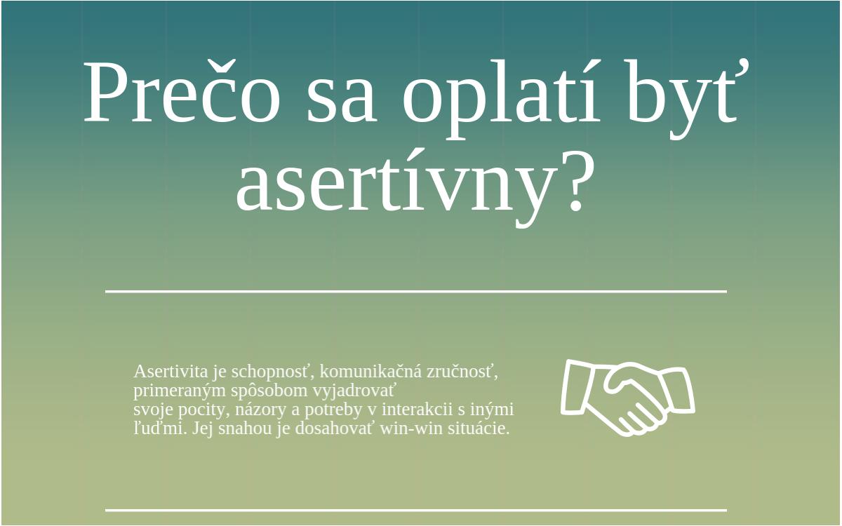 Prečo sa oplatí byť asertívny? [INFOGRAFIKA]